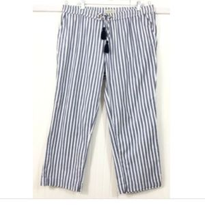 Caribbean Joe XL Casual Pull On Pants Striped Blue